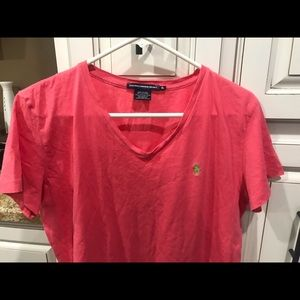 Ralph Lauren used v neck polo tee XL